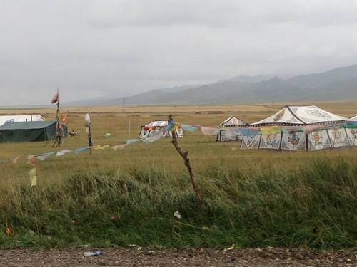 (Courtesy  |  Researchers, University of Utah) Tibetans sometimes live in nomadic tents, shown here on the Tibetan Pleateau. A new study led by University of Utah researchers found a gene mutation is responsible for Tibetans' ability to thrive at high altitudes.