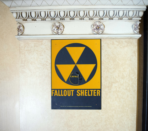 Rick Egan     The Salt Lake Tribune  A sign outside the Egyptian and the Colonial rooms in the Salt Lake Masonic Temple designates a public fallout shelter. Wednesday, August 20, 2014