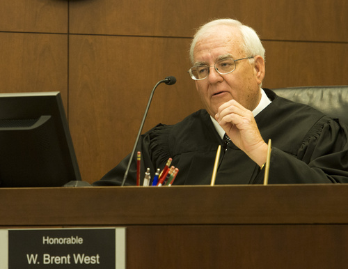 Rick Egan     The Salt Lake Tribune Judge W. Brent West sentences Dea Millerberg to five years in prison in Second District Court in Ogden, Thursday, August 21, 2014 Millerberg pleaded guilty to helping hide the body of her teen babysitter, Alexis Rasmussen, who overdosed on drugs at her house.