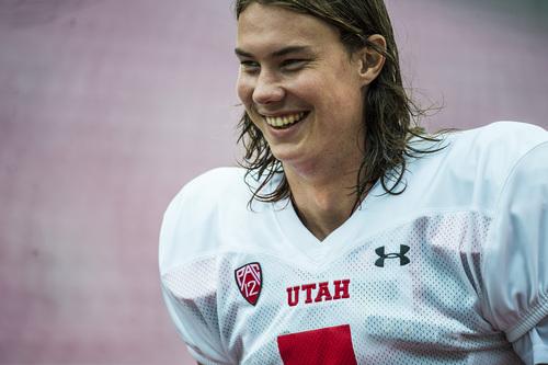 Chris Detrick  |  The Salt Lake Tribune Utah Utes quarterback Travis Wilson (7) during a practice at Rice-Eccles Stadium Tuesday August 19, 2014.