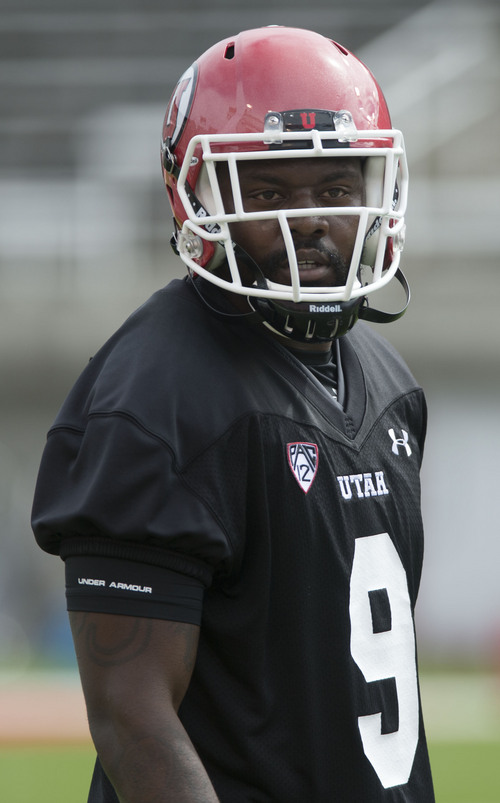 Steve Griffin  |  The Salt Lake Tribune   Utah defensive back Tevin Carter looks to the sideline during football practice at Rice Eccles Stadium in Salt Lake City, Utah Monday, August 4, 2014.