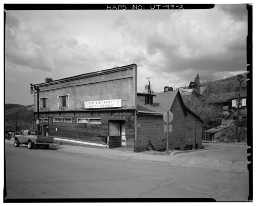Photo courtesy Library of Congress  The New Deal Market at 204 Main Street in Park City. date unknown.