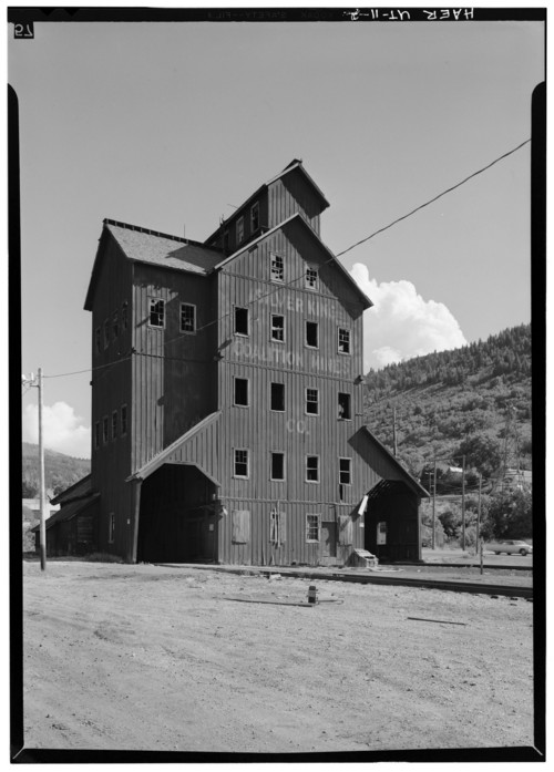 Photo courtesy Library of Congress  This photo of the Silver King Mining Company in Park City was shot in 1971.