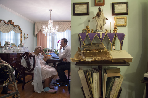 Dr. Eric De Jonge of Washington Hospital Center conducts a Medicare house call at the home of patient Beatrice Adams, in Washington, Thursday, Aug. 7, 2014. (AP Photo/Molly Riley)