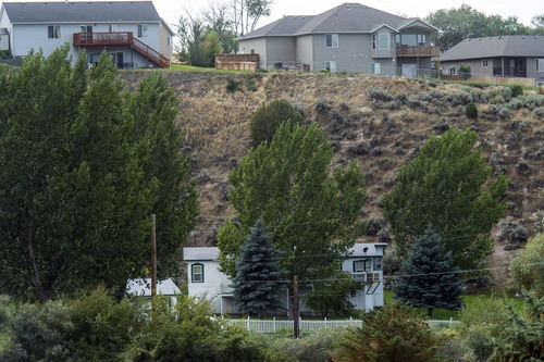 Chris Detrick  |  The Salt Lake Tribune The home where up to a dozen FLDS kids were found last week in Pocatello, Idaho, Wednesday August 20, 2014.