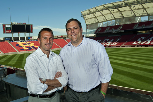 Chris Detrick  |  The Salt Lake Tribune Real Salt Lake coach Jason Kreis, left, and general manager Garth Lagerwey have little in common, but together, they have turned RSL into one of the elite teams in Major League Soccer.