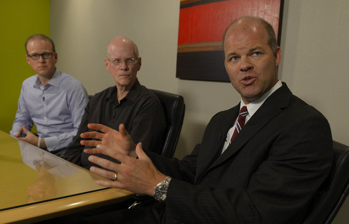 "Leah Hogsten  |  The Salt Lake Tribune ""God's got us,"" said Jim Harding (center) August 21, 2014, flanked by son Scott (left) and his attorney Paxton Guymon (right), of his wife Jan Harding's recovering health from deep, ulcerated burns in her upper esophagus that have left her in critical condition at University Hospital. On August 10, 2014, Jan Harding suffered severe burns to her mouth and throat after taking a sip of sweet tea at a South Jordan Dickey's after an employee had mixed lye into the tea thinking it was sugar.The cleaning product is meant for degreasing deep fryers and contains the odorless chemical lye, the active ingredient in drain cleaners."