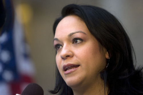 Tribune file photo |  State Sen. Luz Robles, D-Salt Lake City, is now running  for Congress in Utah's District 2.