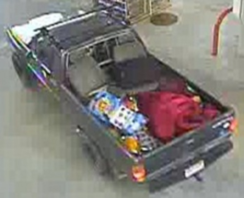 Salt Lake City police are searching for this vehicle in a burglary and credit card fraud case. (SLCPD photo)
