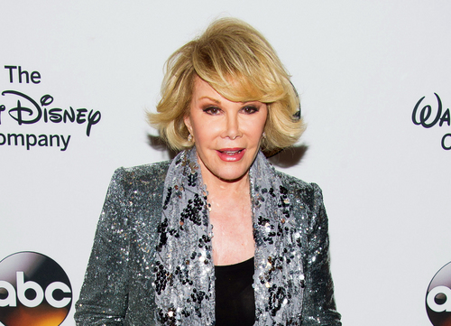 FILE - In this May 14, 2014 file photo, TV personality Joan Rivers attends A Celebration of Barbara Walters in New York. Melissa Rivers announced Thursday, Sept. 4, that her mother Joan died Thursday, in New York. Rivers was hospitalized Aug. 28, after going into cardiac arrest at a doctor's office. (Photo by Charles Sykes/Invision/AP, File)