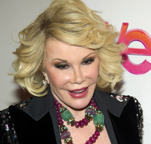 """FILE - In this Jan. 19, 2012, file photo, Joan Rivers attends a screening of the Season 2 premiere of WE TV's """"Joan & Melissa: Joan Knows Best?"""" in New York. Two police officials say Rivers has been rushed in cardiac arrest from a doctor's office to a New York City hospital, Thursday, Aug. 28, 2014. (AP Photo/Charles Sykes, File)"""