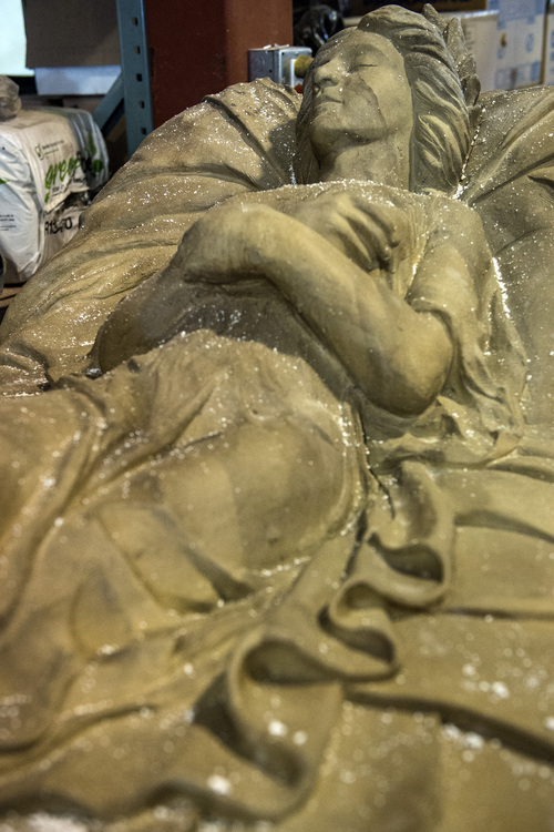 Chris Detrick  |  The Salt Lake Tribune A sculpture that will be used in Evermore Adventure Park at their warehouse in Lindon Wednesday August 27, 2014.