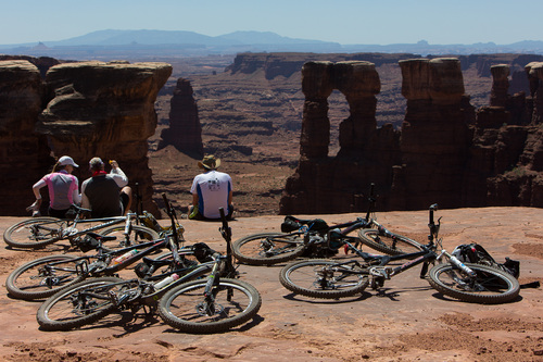 Francisco Kjolseth  |  The Salt Lake Tribune Mountain biking the White Rim trail in Canyonlands in May of 2013