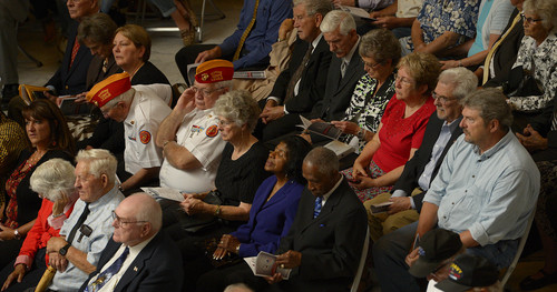Leah Hogsten  |  The Salt Lake Tribune  One hundred eighty one Korean War veterans were presented with a medal from the government of The Republic of Korea and recognized for their service, Wednesday, September 10, 2014 in the Utah Capitol rotunda.