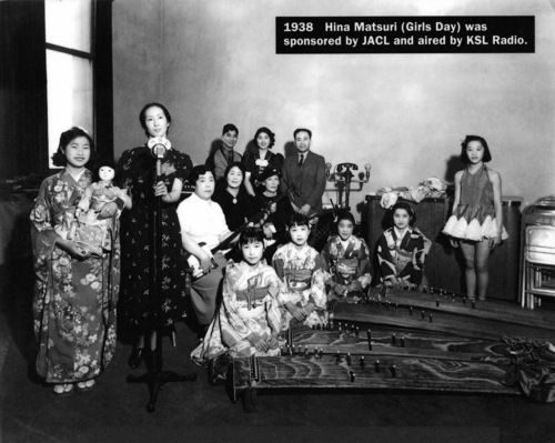 Courtesy J. Willard Marriott Library Special Collections Participants in Hina Matsuri (Girls Day) 1938, sponsored by the Japanese American Civic League and KSL Radio.