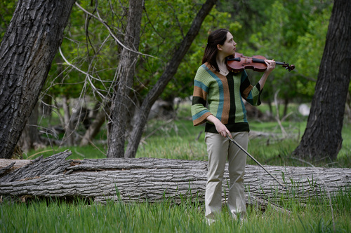 Franciso Kjolseth  |  The Salt Lake Tribune Rachel Panitch, fiddle player from Boston, tunes in to her natural surrounding during a recent unique opportunity by being the first musician to participate in the Artist in Residence program at Zion National Park.