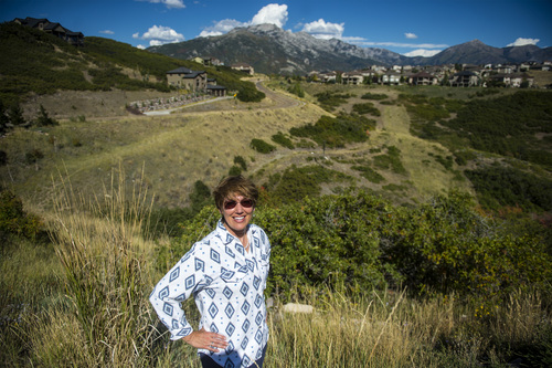 Chris Detrick  |  The Salt Lake Tribune Christine McClory poses for a portrait in Traverse Ridge Wednesday September 17, 2014.