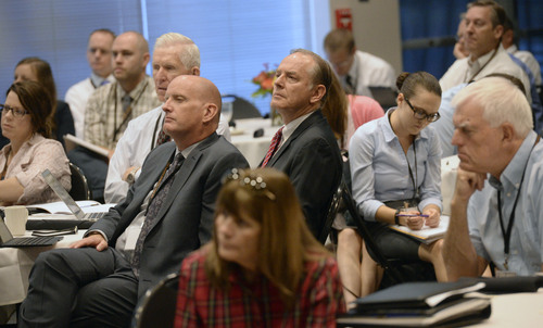 Al Hartmann  |  The Salt Lake Tribune Members of the Utah Legislature and other public health policy makers listen to speakers at the Utah Alcohol Policy Summit Thursday Sept. 18, 2014, at the Utah State Capitol.