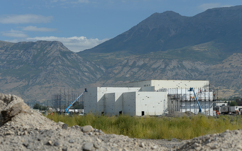 Francisco Kjolseth  |  The Salt Lake Tribune The new 13-screen Larry H. Miller Megaplex Theater being built in the @geneva project in Vineyard, Utah will include the first IMAX screen in Utah County. @geneva is a 1,700-acre redevelopment going in at the site of the abandoned Geneva Steel Mill, a major employer in Vineyard for generations.
