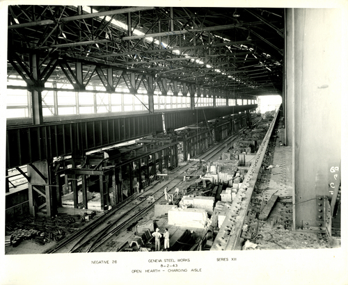 Tribune file photo Originally built by the U.S. government as part of the World War II effort, Geneva Steel Mill in Vineyard, seen here in 1943, was among the country's major steel producers in its heyday.  The mill closed in 2004 for the last time, was purchased by Anderson Development and is now site of one of the most ambitious redevelopments in Utah County history.