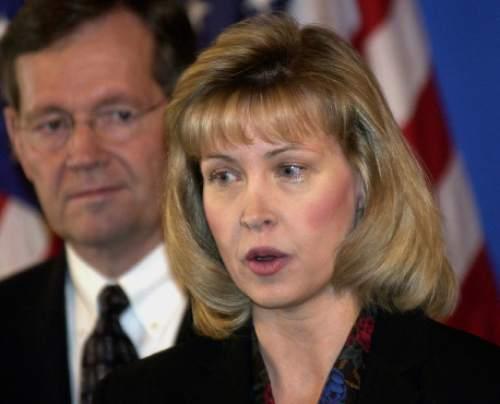 Jill N. Parrish one of Gov Leavitts picks for the Utah Supreme Court.    1/25/03   Hartmann/photo