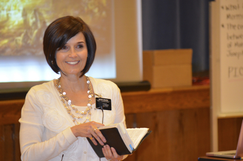 (Courtesy photo)  Rebecca Craven of the LDS North Carolina Charlotte Mission teaching at a zone conference.