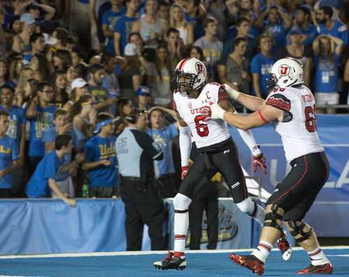 Rick Egan  |  The Salt Lake Tribune  UCLA fans seemed stunned as the Utes game a two touchdown lead over UCLA with Utes wide receiver Dres Anderson's (6) touchdown, at the Rose Bowl in Pasadena, Saturday, October 4, 2014