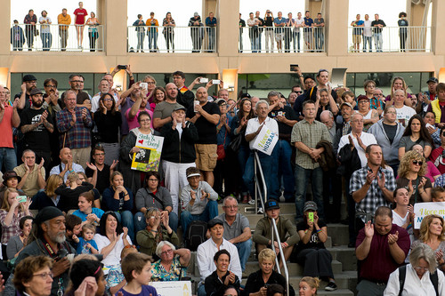 Trent Nelson  |  The Salt Lake Tribune A large crowd at a rally to celebrate today's legalization of same-sex marriage, Monday October 6, 2014 in Salt Lake City.