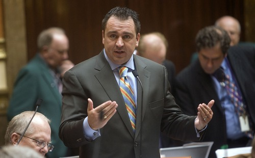 Tribune file photo State Rep. Greg Hughes, R-Draper, says the Legislature's moratorium on debating any bill related in any way to gay marriage has ended with the court case.