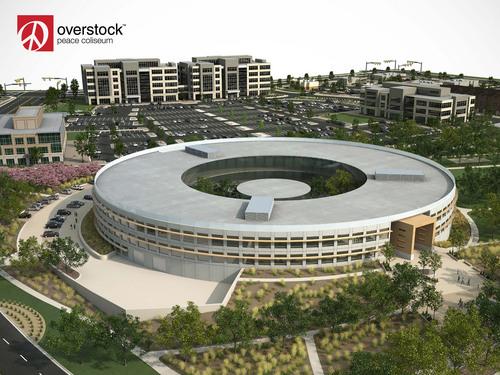 Artist design for Overstock Peace Coliseum in Midvale.