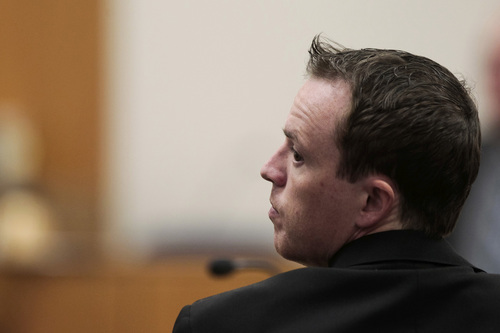 Spencer Heaps  |  Pool   Conrad Truman appears at 4th District Court in Provo on Thursday, Oct. 9, 2014.  Truman has been charged with murder and obstruction of justice in the 2012 death of his wife, Heidy Truman.