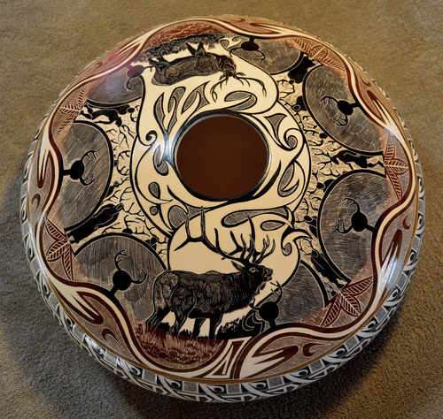 Norman Lansing, a pottery artist from the Northern Ute tribe, is one of 24 artists who will participate in the Indian Art Market at the Natural History Museum on Oct. 18-19. Courtesy Natural History Museum