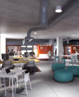 Courtesy  |  University of Utah  Renderings of the interior of the new Lassonde Studios Building.