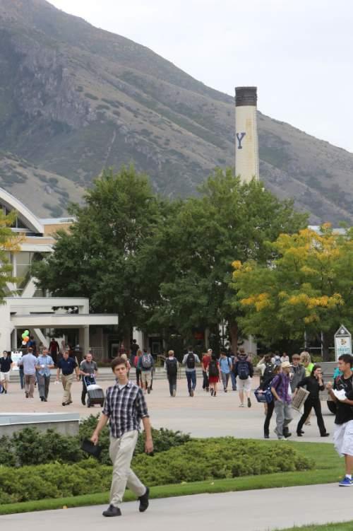 Francisco Kjolseth     The Salt Lake Tribune Students at Brigham Young University (BYU).