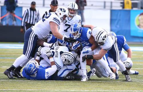 "Courtesy  |  Mark A. Philbrick, BYU BYU defeated Middle Tennessee by a score of 27-7 at Johnny ""Red"" Floyd Stadium in Murfreesboro, Tenn., Saturday, Nov. 1, 2014."