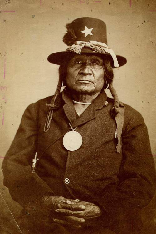 This undated photo provided by ancestry.com shows Comanche Indian Josani Toshway, aka Tosawa. To help people with Indian blood trace their roots, Utah-based genealogy website Ancestry.com has partnered with the Oklahoma Historical Society to add more than 3.2 million American Indian historical records and images to its website. (AP Photo/William Stinson Soule via Ancestry.com)