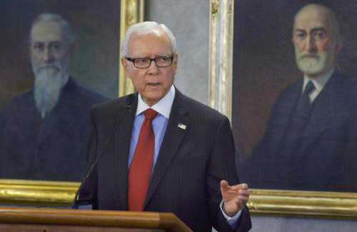 Leah Hogsten  |  Tribune file photo  Sen. Orrin Hatch got a new title, a raise and round-the-clock security as the Republicans took control of the U.S. Senate on Tuesday.