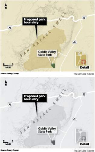 Emery County proposes San Rafael park U.S. Rep. Rob Bishop's lands initiative prompted a proposal from Emery County to create a state-run park in the San Rafael Swell that includes Goblin Valley State Park.