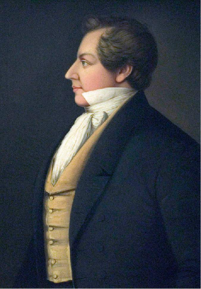 Danquardt Weggeland portrait of Joseph Smith.