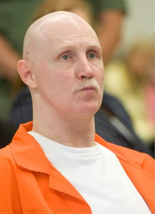 Trent Nelson | The Salt Lake Tribune  Ronnie Lee Gardner listens as arguments are presented during his commutation hearing at the Utah State Prison in Draper, Utah, Thursday, June 10, 2010.