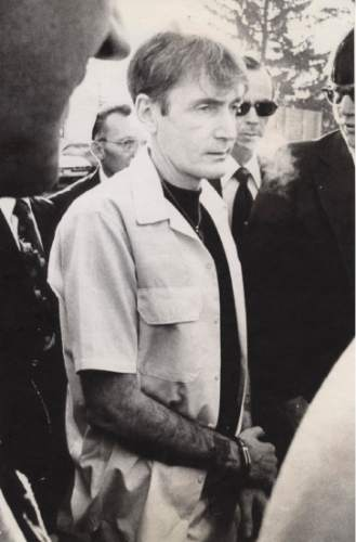 Gary Gillmore shown 12/15/1977 on his way to be re-sentenced to death File Photo