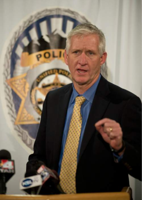 Lennie Mahler  |  The Salt Lake Tribune Salt Lake County Sheriff Jim Winder speaks to the media about the new Autism Safety Roster, which would inform officers responding to a situation involving a person with autism.