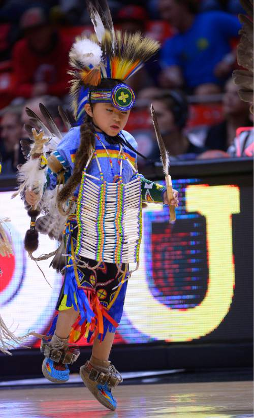 Leah Hogsten     The Salt Lake Tribune To celebrate the Ute Proud campaign, a partnership between the Ute tribe and the University of Utah, and Native American Heritage Month, members of the Ute tribe filled the basketball court in dance during halftime of   the University of Utah and UC Riverside game, November 21, 2014, at the Jon M. Huntsman Center.