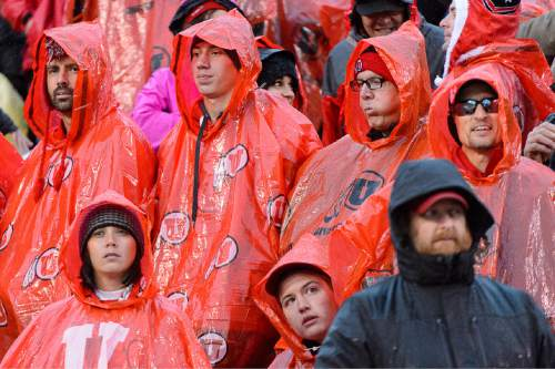 Trent Nelson     The Salt Lake Tribune Utah fans during the fourth quarter as the University of Utah Utes hosts the Arizona Wildcats, college football at Rice-Eccles Stadium in Salt Lake City on Saturday.