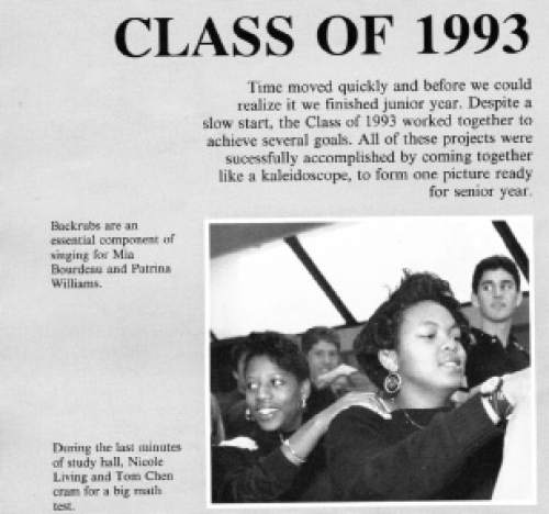 Mia Love, then Mia Bourdeau, was a member of Norwalk High's chamber singers. Courtesy image