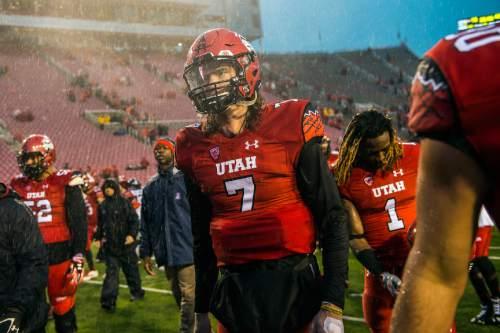 Chris Detrick     The Salt Lake Tribune Utah Utes quarterback Travis Wilson (7) walks off of the field after the game at Rice-Eccles Stadium Saturday November 22, 2014. Arizona Wildcats defeated Utah Utes 42-10.