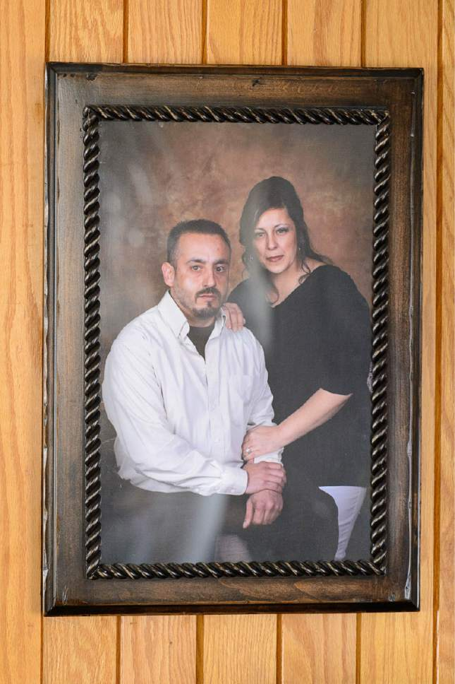 Courtesy photo A family photo of Jodi Phillips, right, and her common law husband Luis Quintana, who was shot and killed by a Unified Police Department officer on Oct. 25, when Quintana allegedly charged the officer while holding a knife.