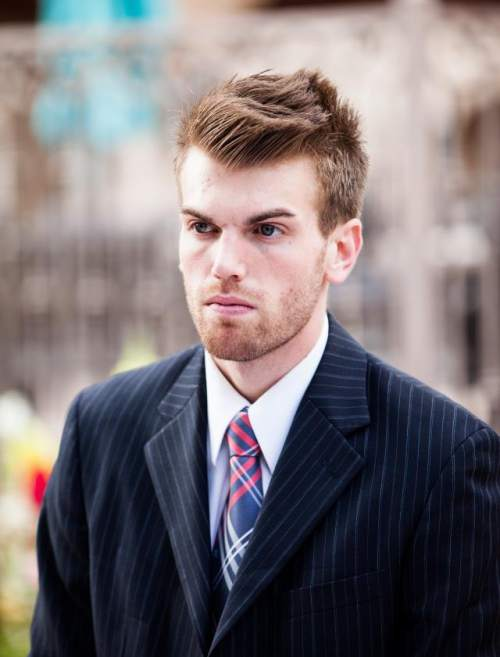 Garrin Schlink, a history major at Brigham Young University, says school officers have refused to renew his beard permit, citing stricter new rules. The school's honor code forbids beards, but has typically granted exemptions for students who are acting in historical movies or who have overly sensitive skin. Schlink, who is 25, is one of a few dozen BYU students asking to university to drop its beard ban.  Courtesy photo