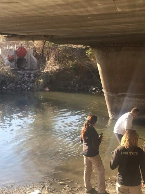 (Courtesy West Valley City Police Department)  West Valley City police discovered a body of unknown age and gender in the Jordan River on Monday Dec. 1, 2014.