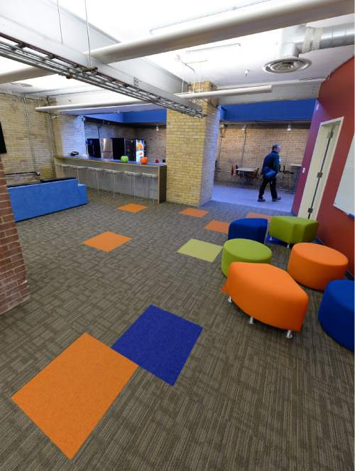 Francisco Kjolseth     The Salt Lake Tribune More than half-dozen business incubators have sprung up in Salt Lake City's downtown in recent years, including Holodeck.  They offer inexpensive `co-working' space, where startup companies share offices, support services to save costs.